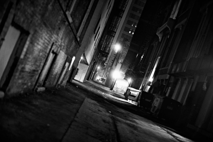 An alley off Michigan Ave in downtown Milwaukee, WI.