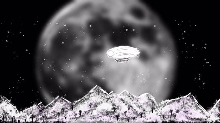 sailing the moon